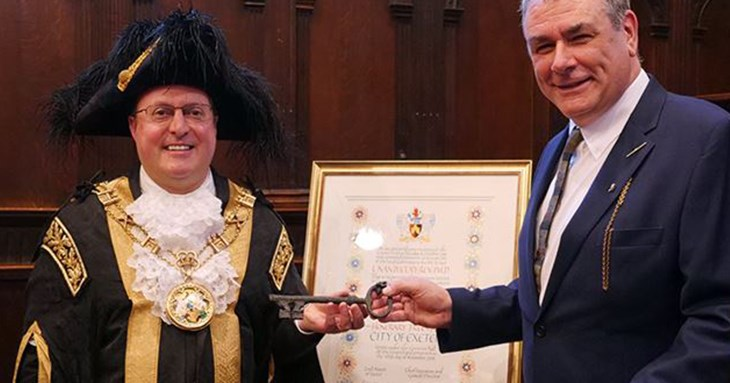 historian given Freedom of the City