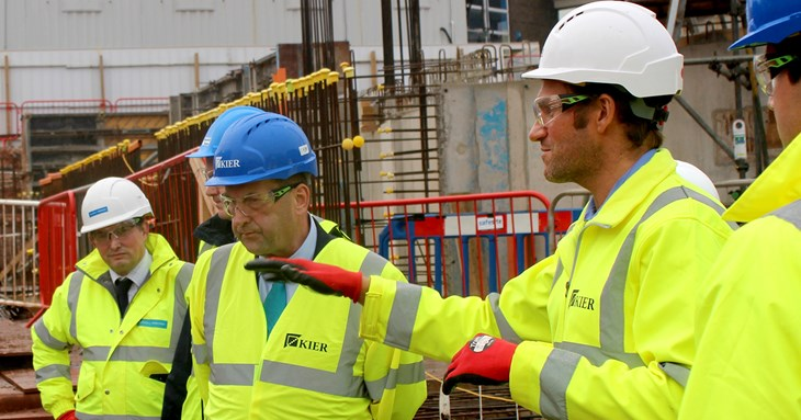 Council leader views progress of emerging new leisure centre and bus station