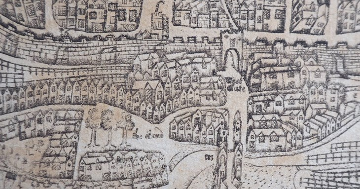 Exeter of 1743 Map