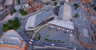 New Bus Station Arial