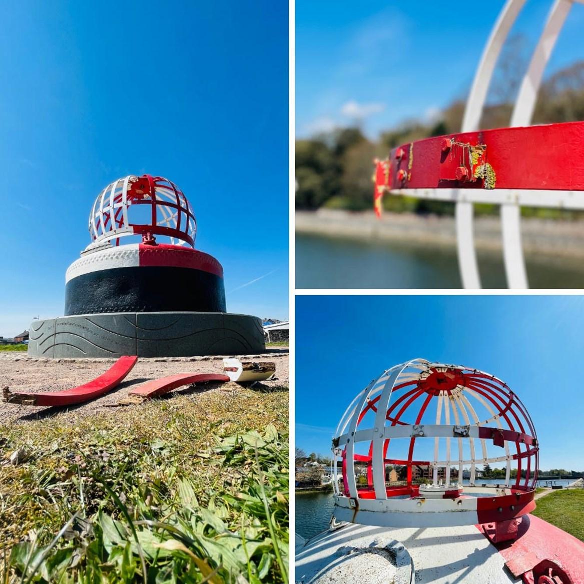 Major landmark buoy damaged